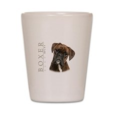 Brindle Boxer Shot Glass