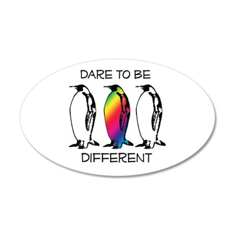 Dare to be Different 38.5 x 24.5 Oval Wall Peel