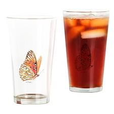 fritillary in flight Drinking Glass