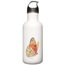 fritillary in flight Water Bottle
