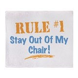 Rule #1 Chair Throw Blanket