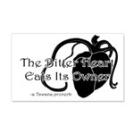 The Bitter Heart 20x12 Wall Decal