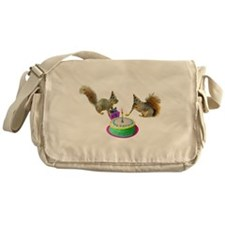 Squirrels Birthday Messenger Bag