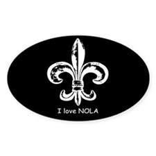 I Love NOLA Oval Decal
