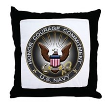 USN Eagle Honor Courage Commi Throw Pillow
