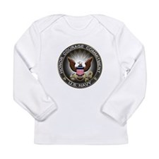 USN Eagle Honor Courage Commi Long Sleeve Infant T