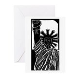 Black Liberty Blank Greeting Cards (Pk of 10)