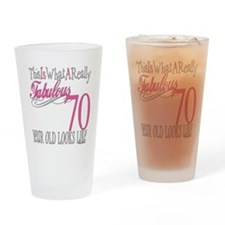 70th Birthday Gifts Drinking Glass