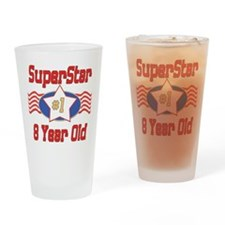 Superstar at 8 Drinking Glass