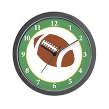 Football Lover Sports Room Wall Clock