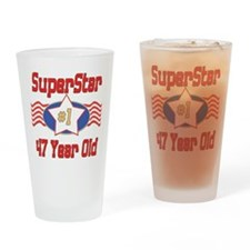 Superstar at 47 Drinking Glass