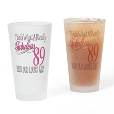 89th Birthday Gifts Drinking Glass