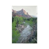 Zion national park Rectangular Magnet