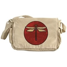 Red Moon Dragonfly Messenger Bag
