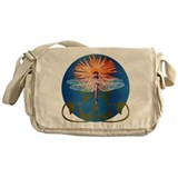 Dragonfly Flower Messenger Bag