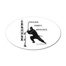 """Grammar Ninja"" 22x14 Oval Wall Peel"