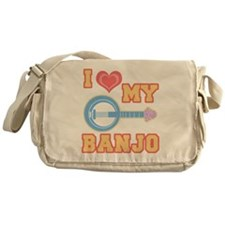 I Love My Banjo Messenger Bag