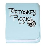 Petoskey Rocks baby blanket
