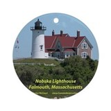 Nobska Lighthouse Ornament (Round)
