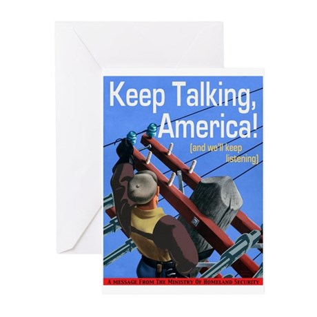Keep Talking America Greeting Cards (Pk of 10)