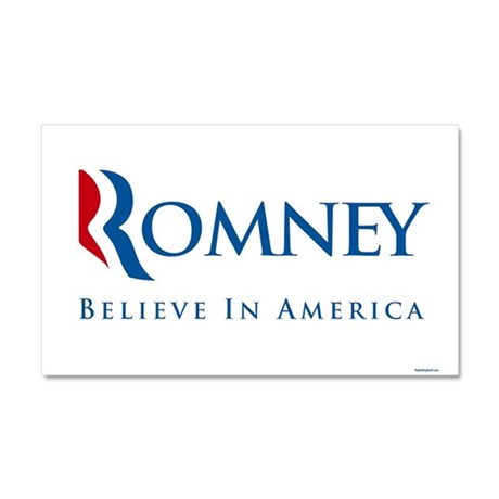Romney - Believe in America Car Magnet 20 x 12