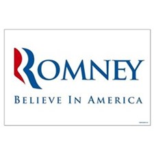 Romney - Believe in America Large Poster
