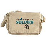 My heart belongs to a Soldier Messenger Bag