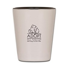 Cute A.d.o.p.t pet shelter Shot Glass