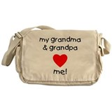 My grandma and grandpa love m Messenger Bag