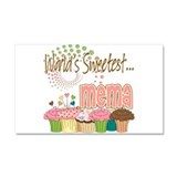 World's Sweetest Mema Car Magnet 20 x 12