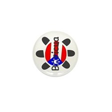 Puerto Rico Taino Symbol Mini Button (100 pack)