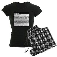 Evil Genius Personal Ad Women's Dark Pajamas