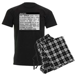 Evil Genius Personal Ad Men's Dark Pajamas