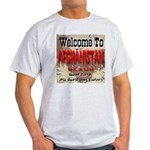 Welcome To Afghanistan Beach Ash Grey T-Shirt