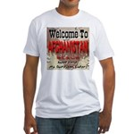 Welcome To Afghanistan Beach Fitted T-Shirt