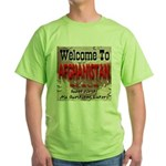 Welcome To Afghanistan Beach Green T-Shirt