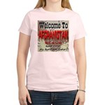 Welcome To Afghanistan Beach Women's Pink T-Shirt