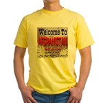 Welcome To Afghanistan Beach Yellow T-Shirt