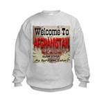 Welcome To Afghanistan Beach Kids Sweatshirt