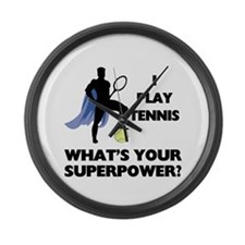 Tennis Superpower Large Wall Clock