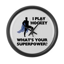 Hockey Superpower Large Wall Clock