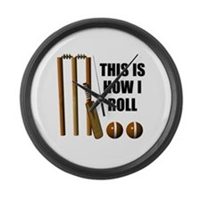 This Is How I Roll Cricket Large Wall Clock