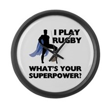 Rugby Superhero Large Wall Clock