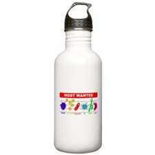 Most Wanted Poster Water Bottle