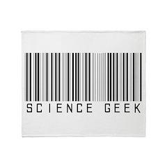 Barcode Science Geek Throw Blanket