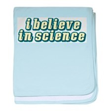 Believe in Science baby blanket