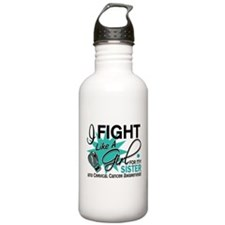 Fight Like A Girl For My Cervical Cancer Water Bottle