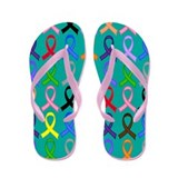 Awareness Ribbon Support Flip Flops