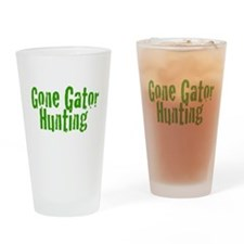 Gone Gator Hunting Drinking Glass