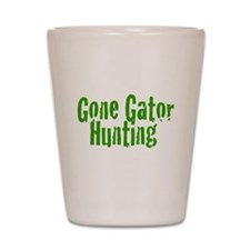 Gone Gator Hunting Shot Glass